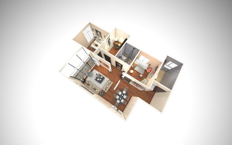 肖诺克的房子-小三室-俯视图
