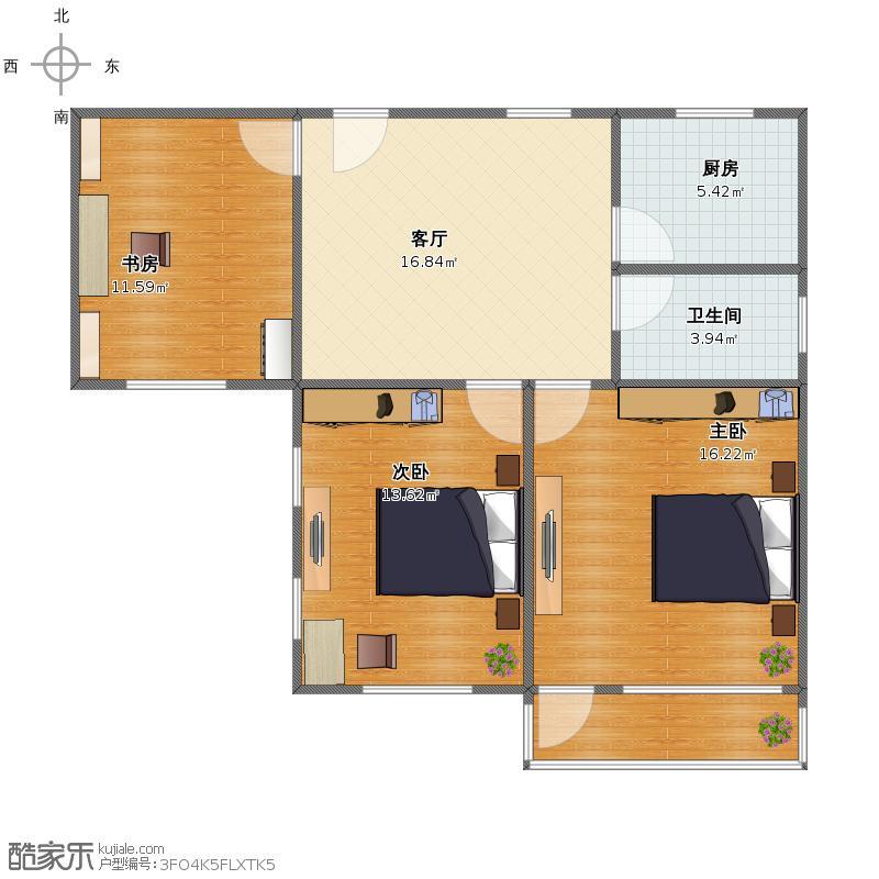 户型设计 邮电小区徐州路01  山东 青岛 未知小区 套内面积:71.