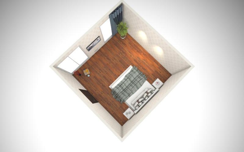 卧室户型图-俯视图