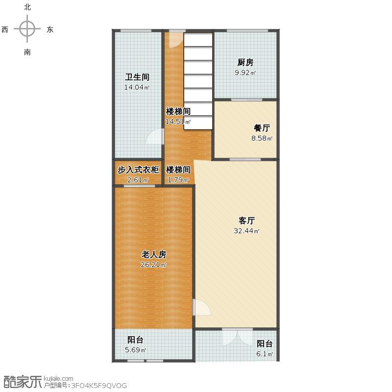 11x13米自建房户型图