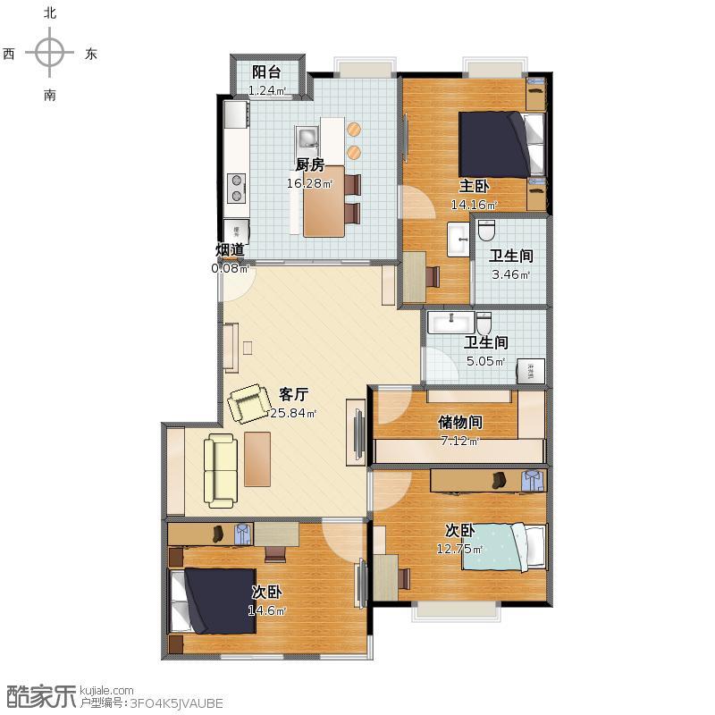 结构调整-家具布置平面图