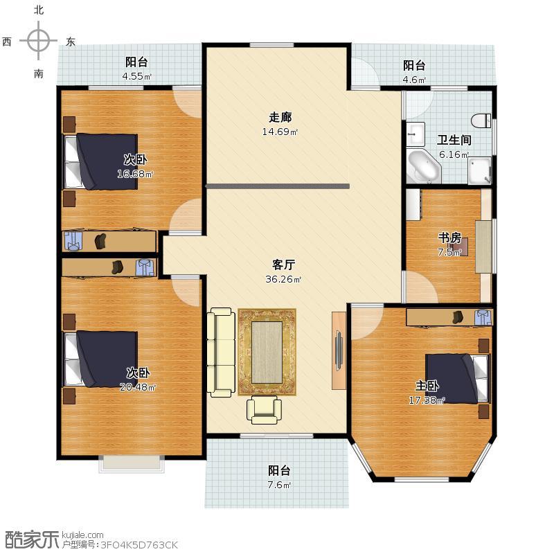 幸福之家二楼设计图