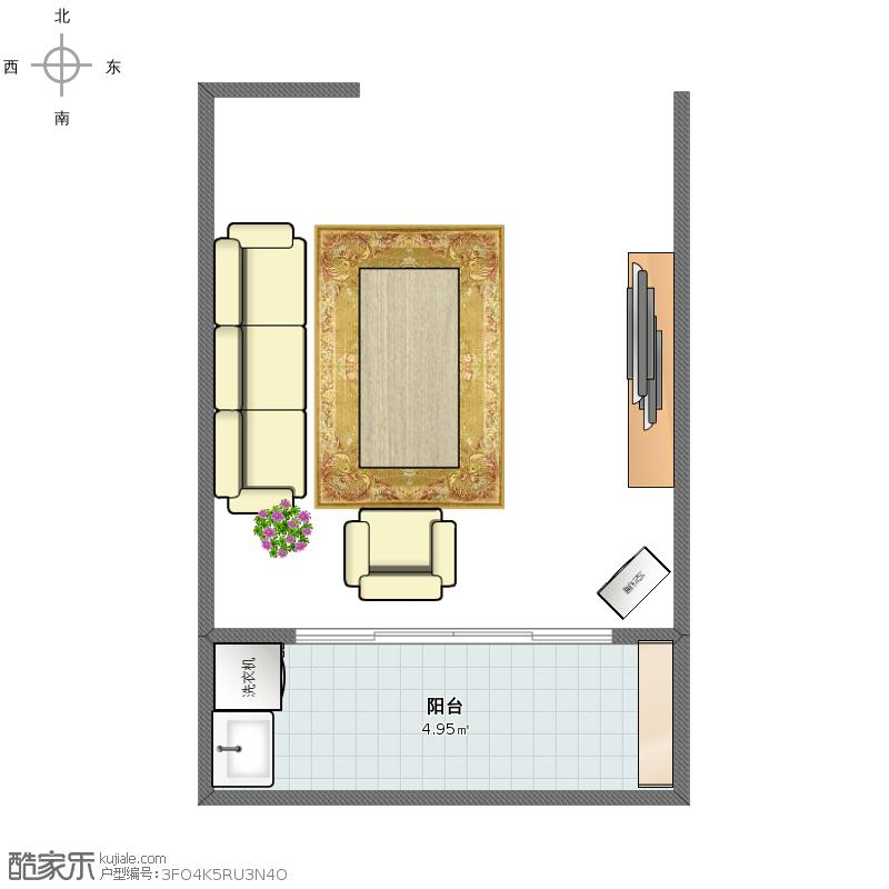 户型设计 户型图  江苏 盐城 未知小区 套内面积:4.