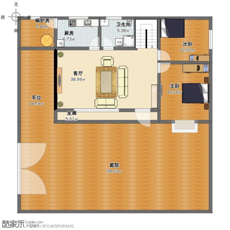 户型设计 嵩县杨湾自建房平面图  建筑面积:229平方米 更新日期:2014