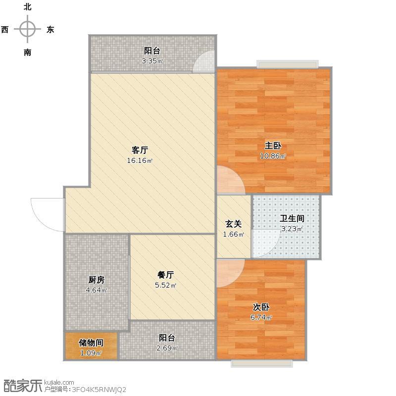户型设计 海尔山海湾户型图  山东 青岛 海尔山海湾 套内面积:55.