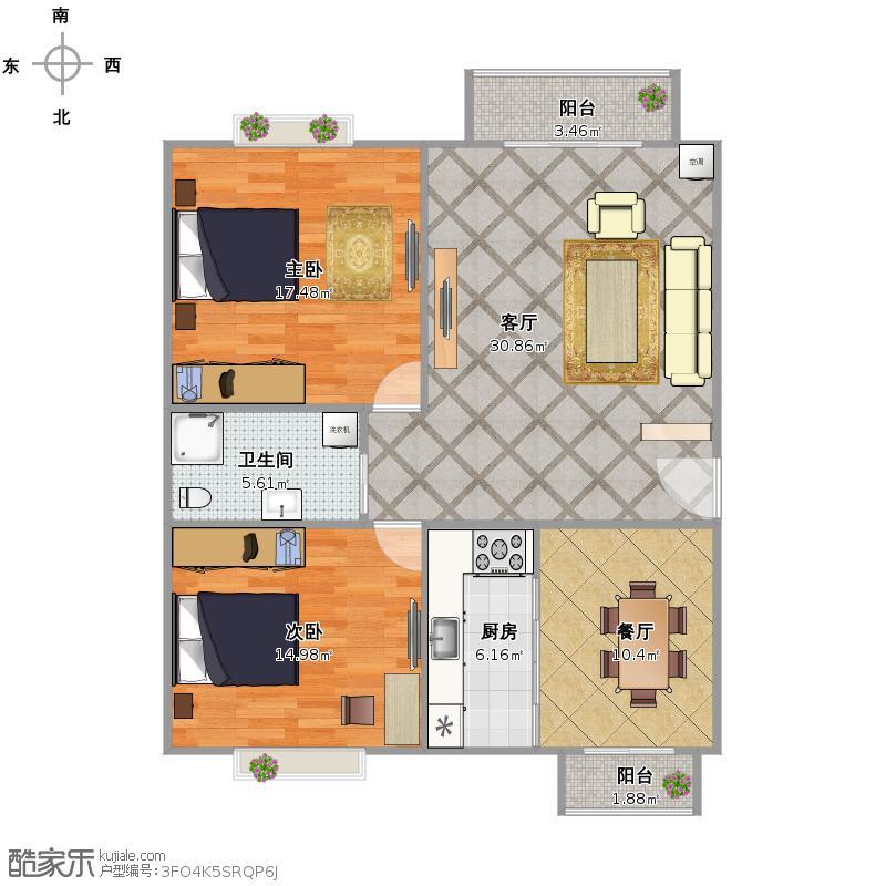 东西长18米,南北15米,求房子设计图.