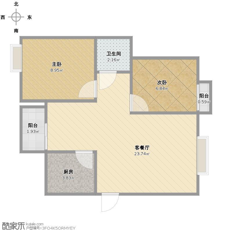 长钢公租房5#户型