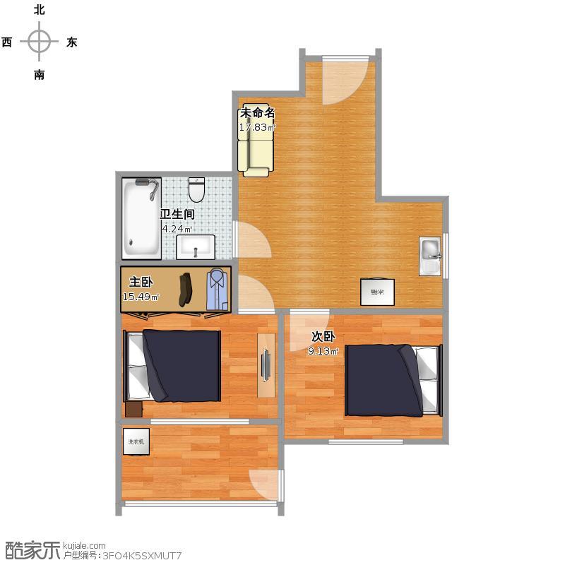 户型设计 复制的方案_鹤沙航城瑞祥一室户房型图  上海 未知小区 套内