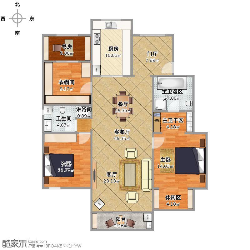 8米x12米洋房户型图-农村自建房设计图8x10-8×12米-.