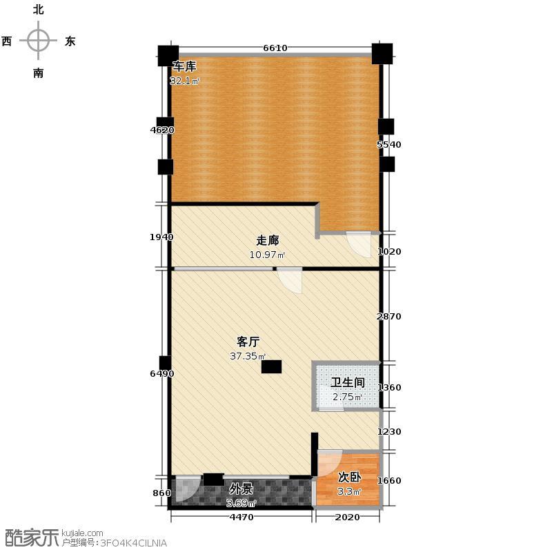 擎天半岛排屋226.00㎡悦墅b-地下室户型1室1厅1卫