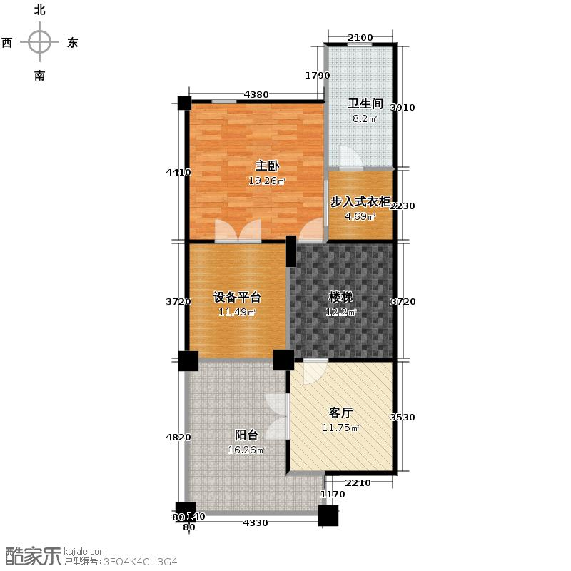 擎天半岛排屋226.00㎡悦墅b-三层户型1室1厅1卫