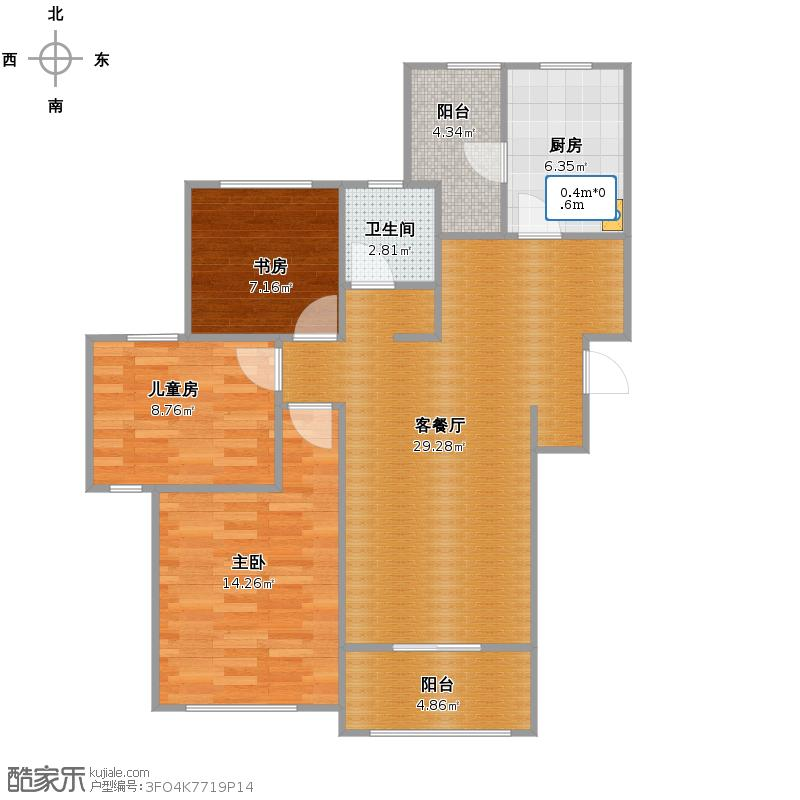 西郊半岛3房108+改后户型图.jpg