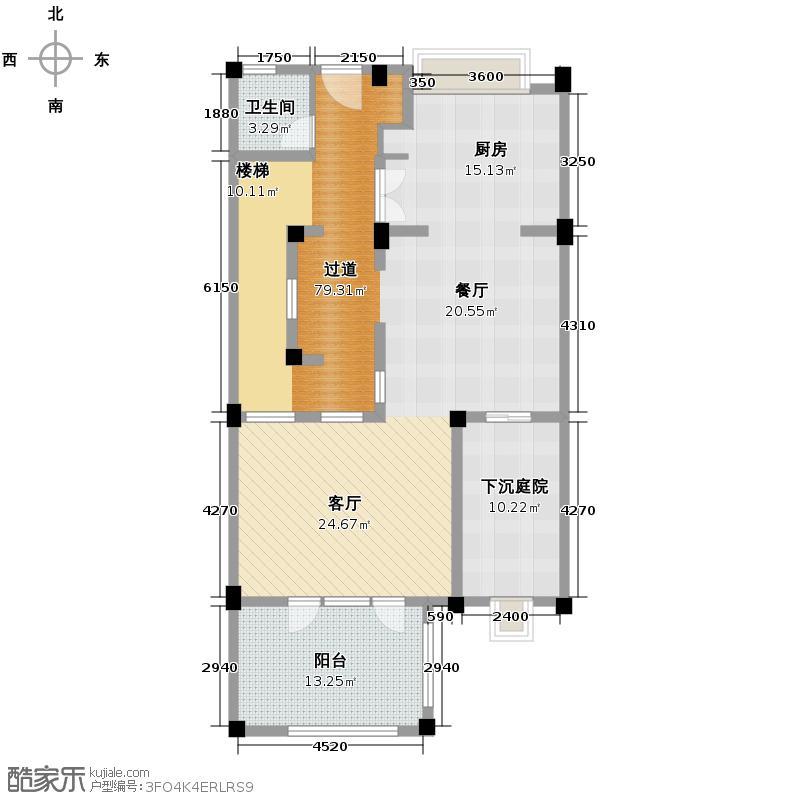绿城养生堂千岛湖玫瑰园户型图排屋b户型(一层) 5室2厅6卫1厨