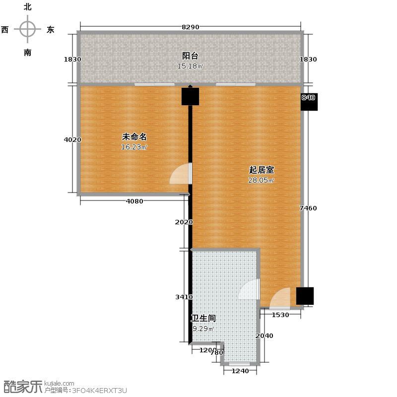 绿城千岛湖度假公寓户型图6号楼中间套缇香c户型
