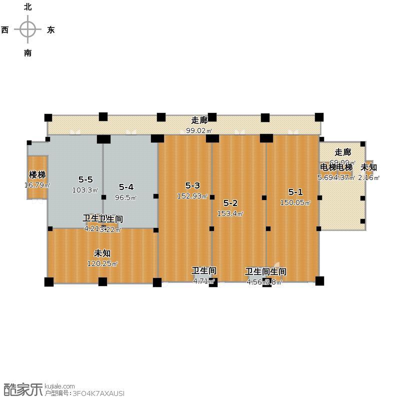 户型设计 5幢一层商铺平面图