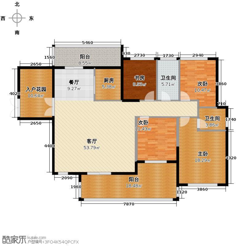 三间四层楼房设计图