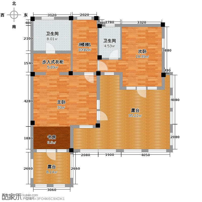 碧桂园凤凰城300.00㎡二层-六联排别墅-户型10室