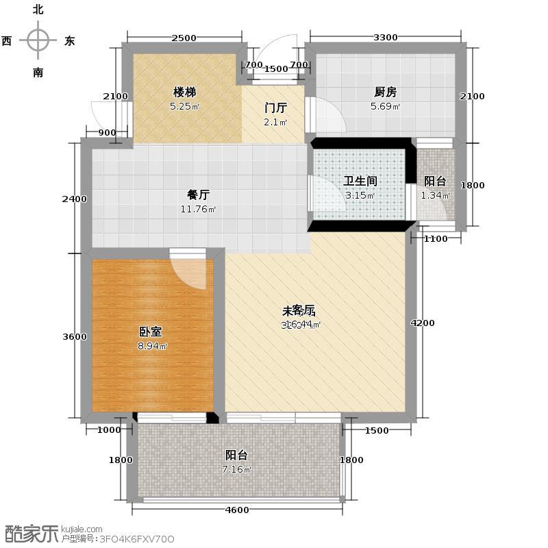 金瑞城市风景137.00㎡f一层户型4室2厅2卫