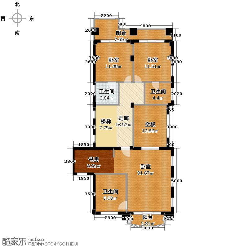 新明半岛291.00㎡涵碧园b3二层户型10室