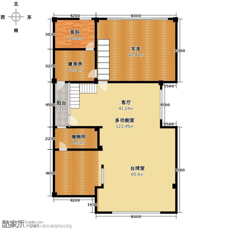 雅戈尔长岛花园221.92㎡别墅e1-1户型10室