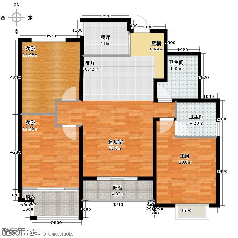78㎡尊贵空间户型10室  山东 青岛 凯景花园 建筑面积:130平方米 &