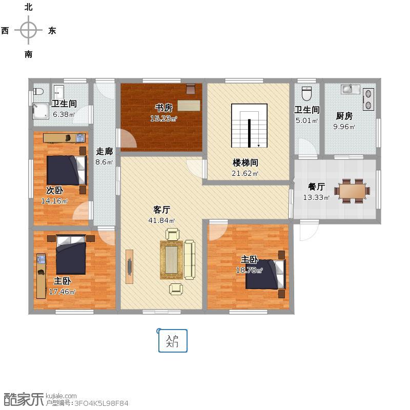 户型设计 复制的方案_农村自建房  湖南 娄底 未知小区 套内面积:172.