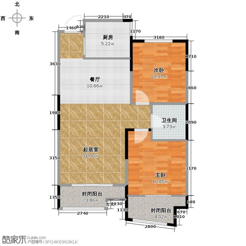 06㎡经典空间-户型10室  山东 青岛 凯景花园 建筑面积:89平方米 &#58