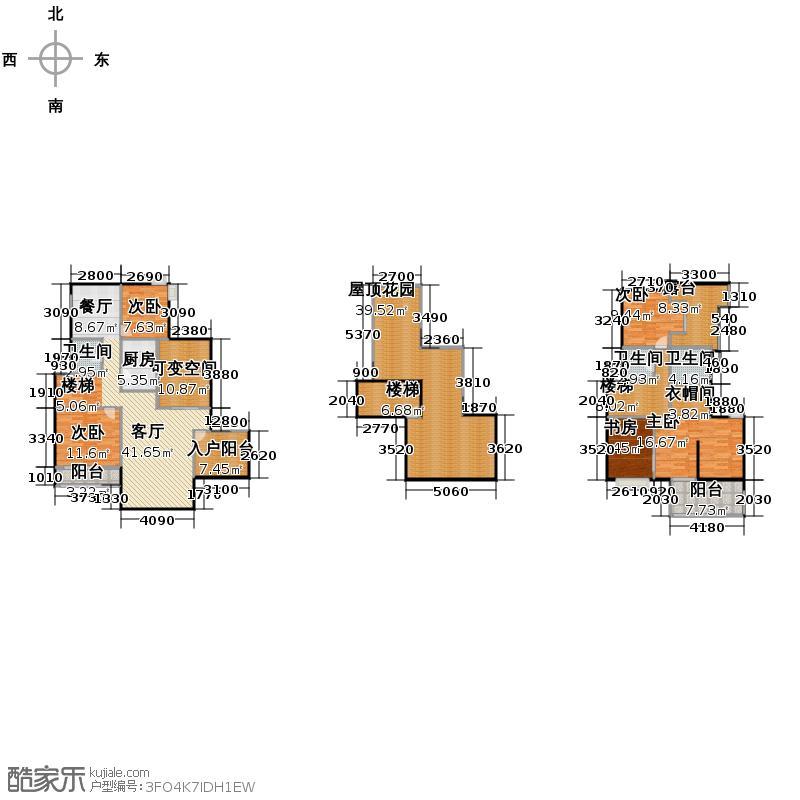 45㎡户型10室  湖北 宜昌 长阳清江山水 建筑面积:279平方米 &#58888