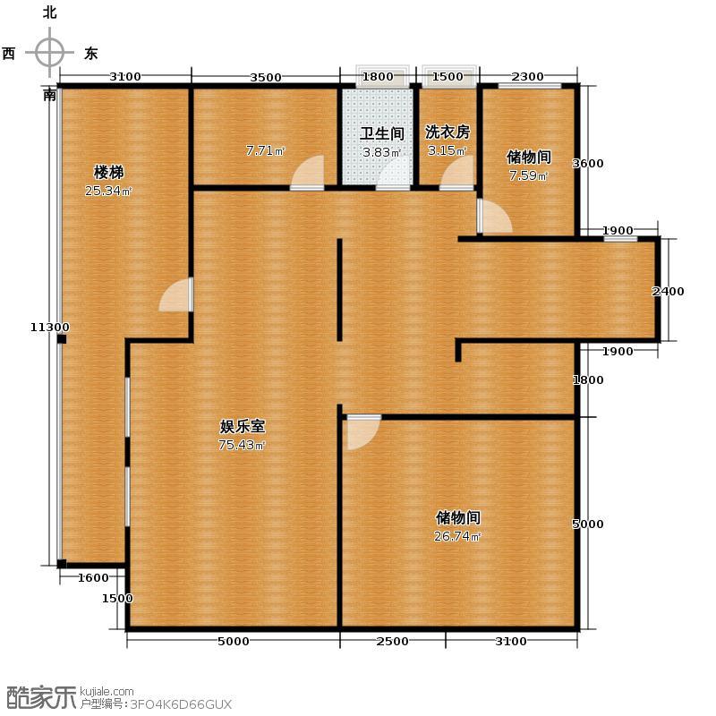 32㎡别墅产品负一层平面图户型10室  安徽 合肥 原树提香 套内面积