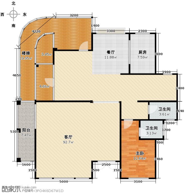 49㎡别墅产品一层平面图户型10室