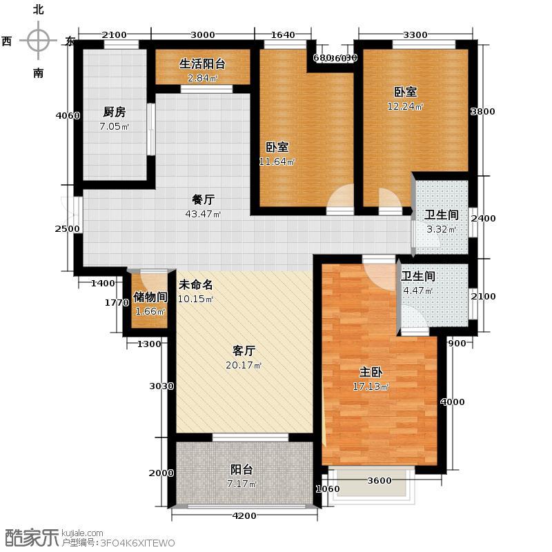 中铁缤纷南郡b1户型图三室两厅150平米户型图图片