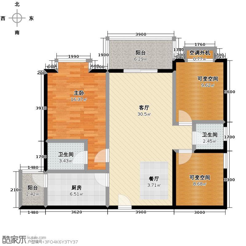 二期 三室两厅双卫户型图大全,装修户型图,户型图分析