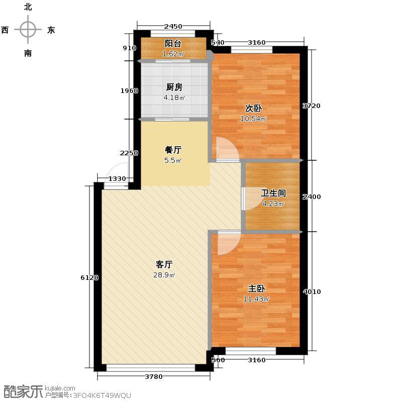二室一厅户型电路图