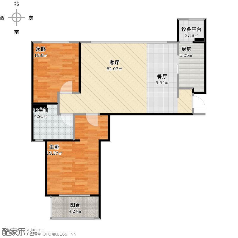 悲催的l户型,两房改三房,求达人设计