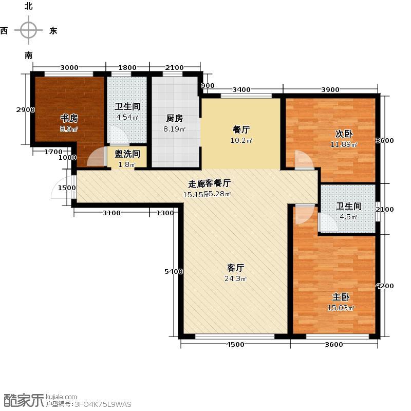 君豪御园124.53㎡二期c户型3室2厅2卫