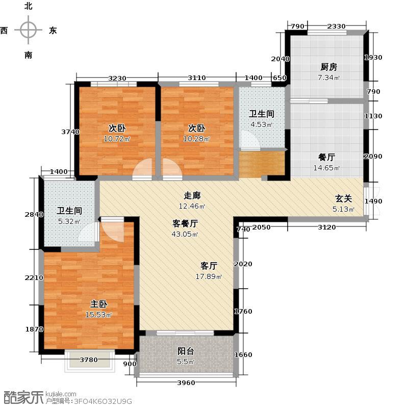 汉旺博翠苑115.87㎡6号楼a户型10室