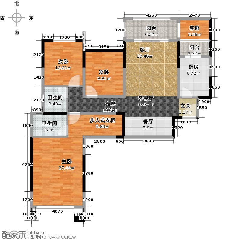 城南优品道广场119.00㎡二期b1户型3室2厅2卫