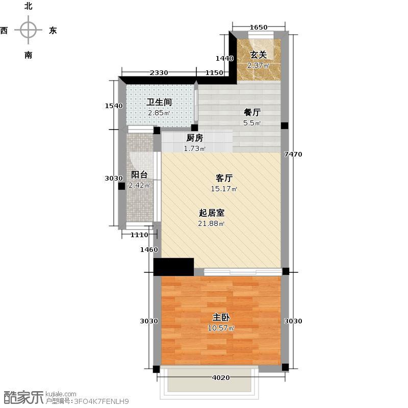 60㎡05,06号房平面布置图4260户型10室