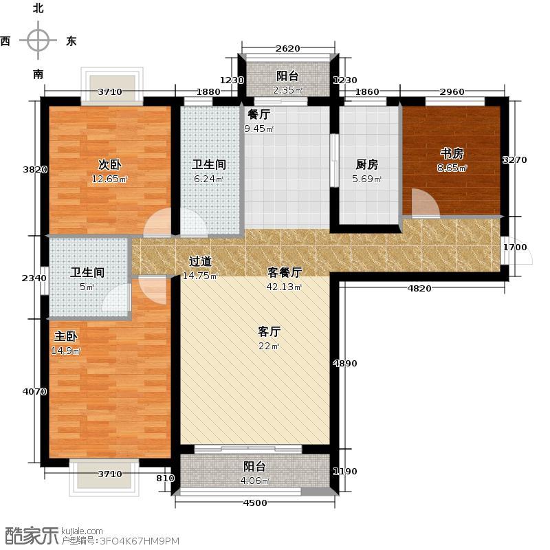 大连海湾城137.38㎡b10户型10室
