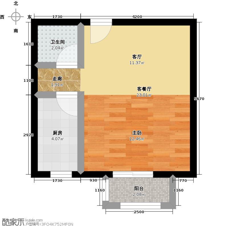 紫城秦皇半岛36.56㎡户型10室