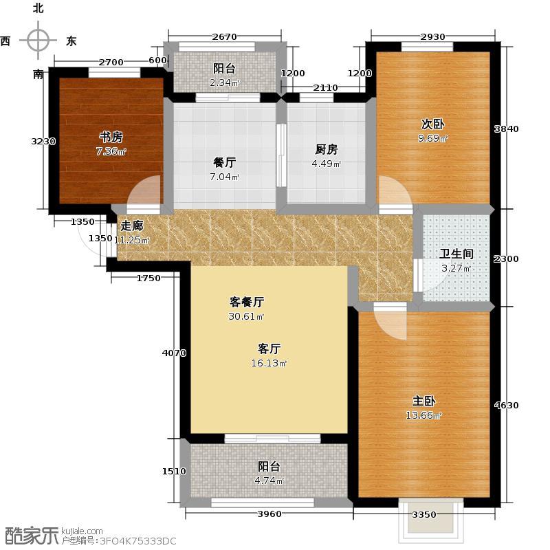 紫城秦皇半岛88.91㎡户型10室