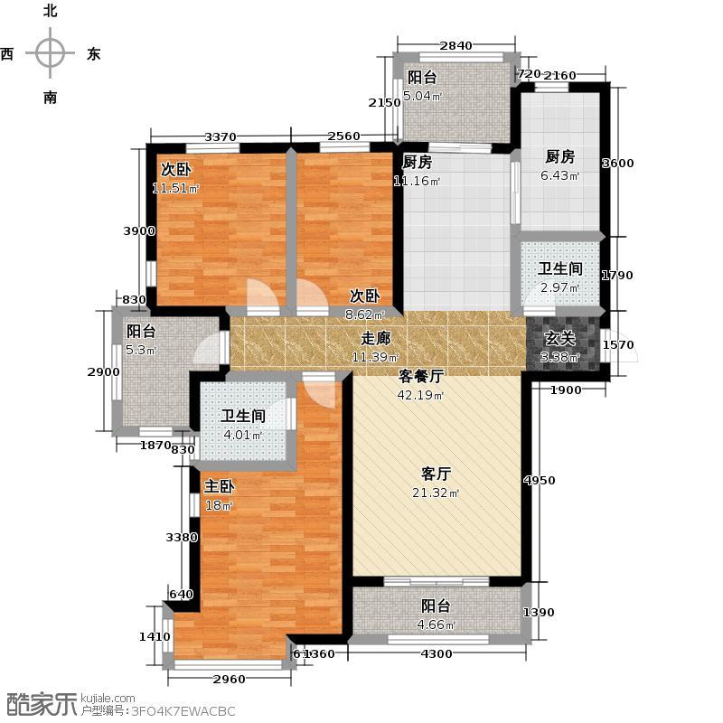 紫城秦皇半岛126.17㎡户型10室