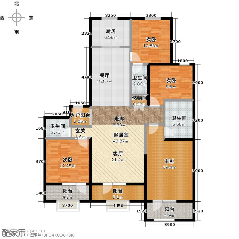 46㎡f2户型10室  北京 保利海德公园 建筑面积:187平方米 &#58888