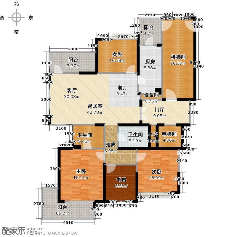 中大99杭州西郊半岛160.00㎡g户型10室户型图大全