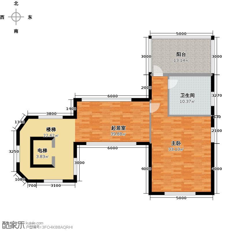 星际半岛112.00㎡c四层户型1室1卫