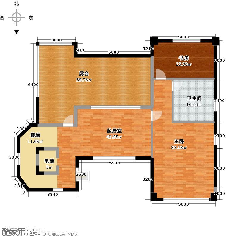 星际半岛108.00㎡b2三层户型2室1卫