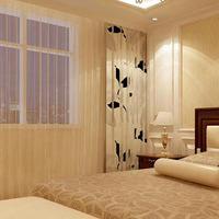 欧式三居温馨优雅白色软包电视墙舒适美观,带来精致的生活体验图片