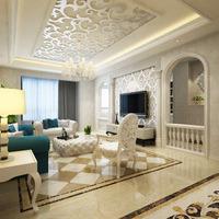 5万打造137㎡欧式风格三居室,镂空雕花天花板&典雅大气拱形门魅力凸显图片