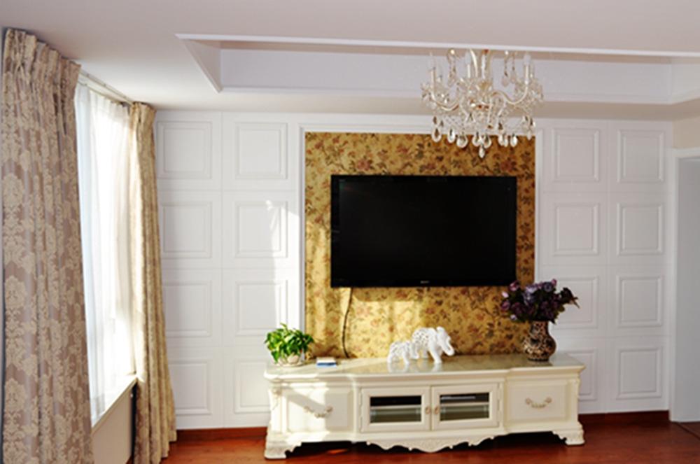 欧式电视背景墙装修效果图大全2013图片_欧式电视背景图片