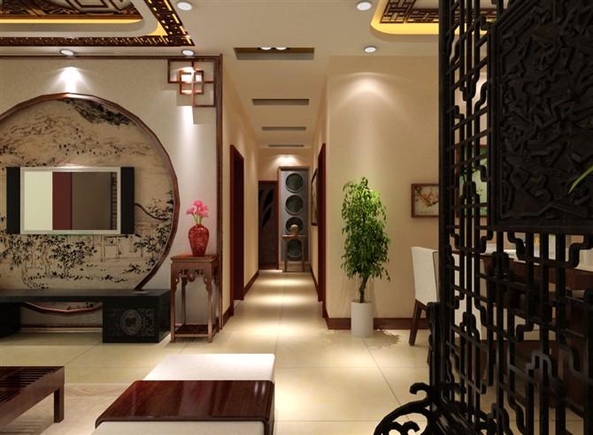 中式客厅透视图
